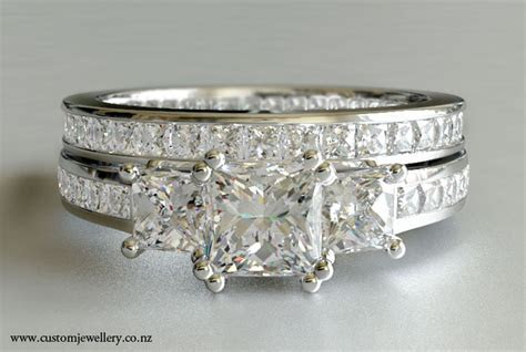 Princess Diamond Engagement Ring   Three Stone New Zealand