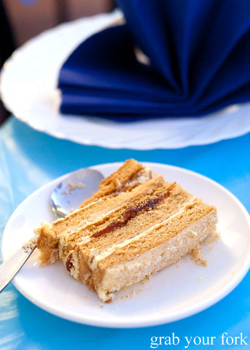 honey cake at Berezka Restaurant, Russian Club, Strathfield