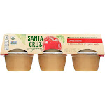 Santa Cruz Organic Apple Sauce - Case Of 12 - 4 Oz.