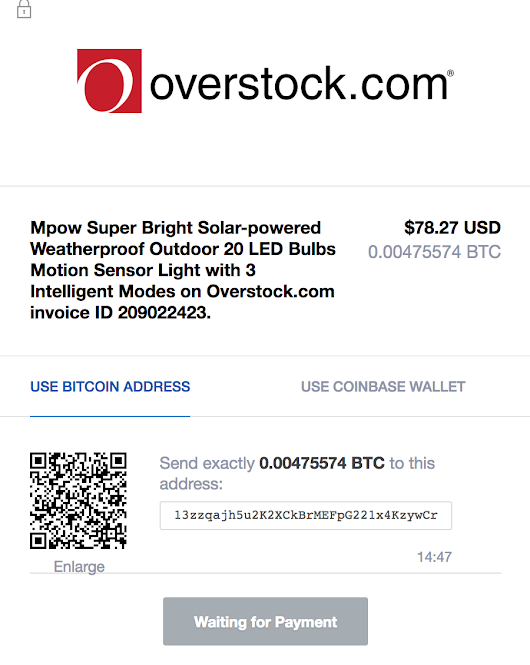 Website Glitch Let Me Overstock My Coinbase — Krebs on Security