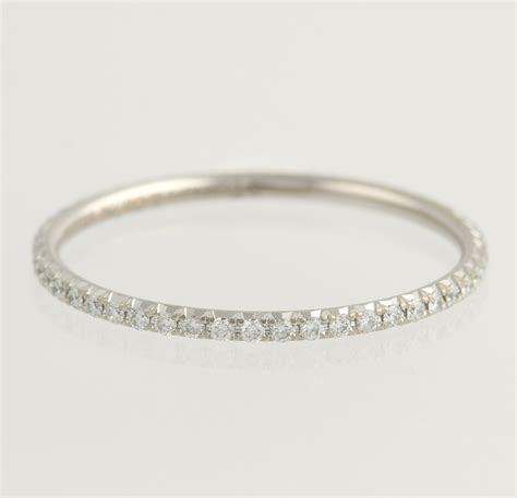 Tiffany & Co Diamond Metro Eternity Wedding Band   18k
