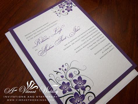 Orchid Wedding Invitation ? A Vibrant Wedding
