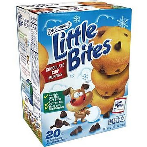 Entenmann's Little Bites Chocolate Chip Muffins - 20 count, 33 oz box