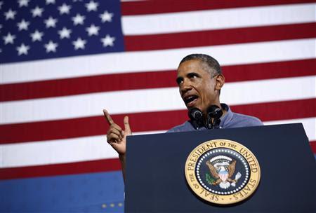 U.S. President Barack Obama delivers remarks on affordable education at Henninger High School in Syracuse, New York, August 22, 2013. REUTERS/Jason Reed