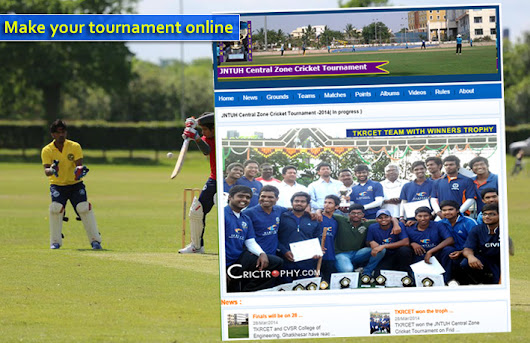 Online Cricket Management Software System for Cricket tournament