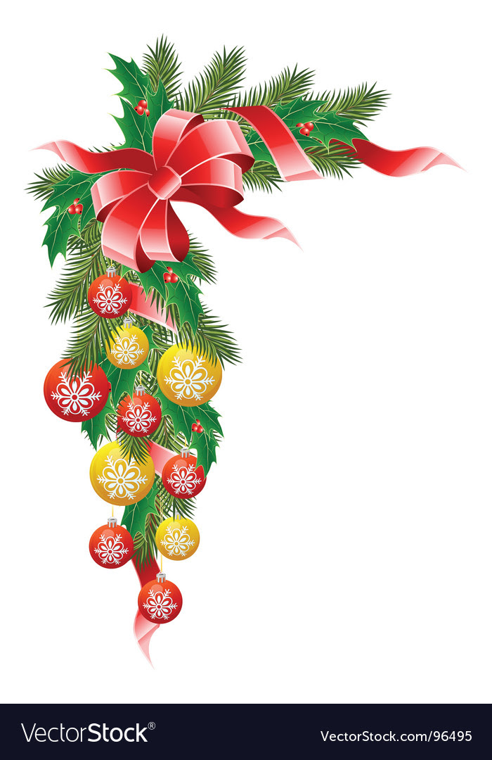 Christmas decoration vector by WaD  Image 96495  VectorStock