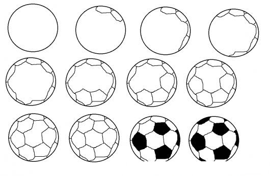 Como Aprender A Dibujar Una Pelota De Futbol Para Pintar Y Colorear