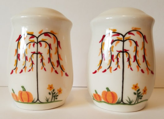 Salt And Pepper Shakers Fall Table Decor Pumpkins And Willow