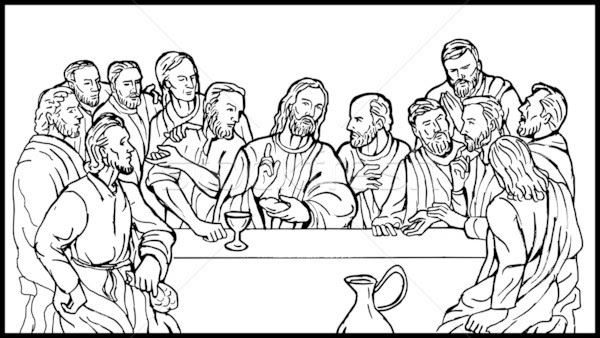 Last Supper Vector At Getdrawingscom Free For Personal Use Last