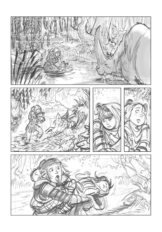 Una the Blade - A rough page from Ryan Lovelock!
