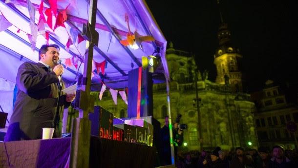 Pegida Demonstration in Dresden iman Mazyek