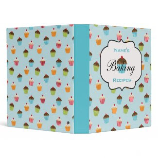 Personalized Cupcakes Recipe Binder