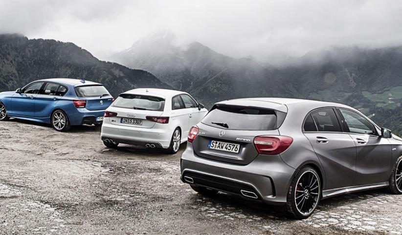 BMW M135i vs Mercedes-Benz A45 AMG vs Audi S3 Comparative ...