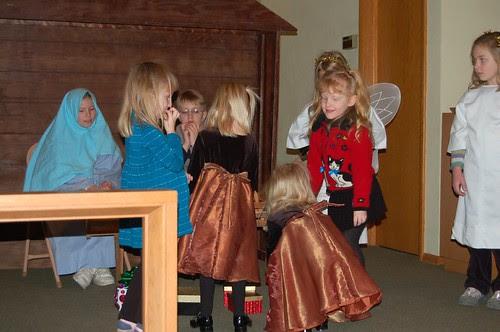 Bringing gifts to baby Jesus...