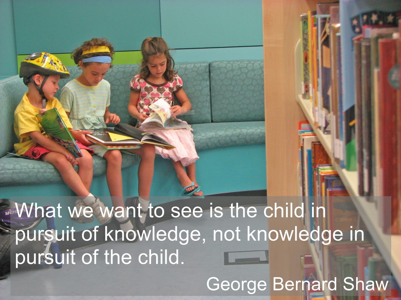 What We Want To See Is The Child In Pursuit Of Knowledge Education