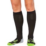 2XU Women's Compression Socks for Recovery Black / Grey