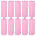 Zodaca Pink Nail Manicure File Buffer Sanding Blocks (Pack of 10)