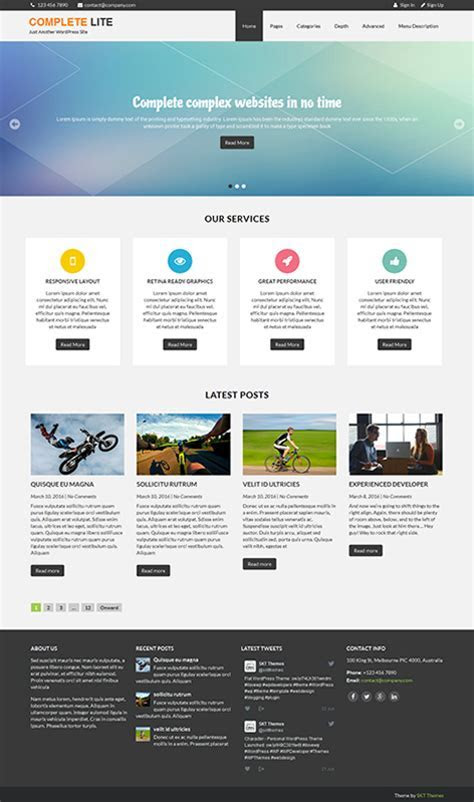 54 Best Responsive Free WordPress Themes with slider