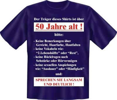 Fun Shirt 50 Jahre T Shirt Sprüche 50 Geburtstag Witzig Geschenk