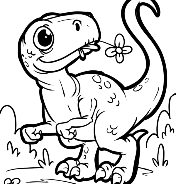 ausmalbilder dinosaurier comic