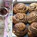 Pane dolce sfogliato al cacao
