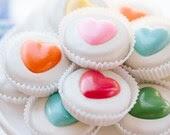 1 Doz RAINBOW HEARTS Chocolate Covered Oreos - sweetiesbykim
