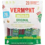 Vermont Smoke & Cure Minis Beef & Pork Snack, Original - 28 pack, 0.5 oz sticks