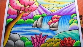 Gambar Pemandangan Gunung Dan Air Terjun