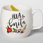 Opalhouse Porcelain 16oz White Mug (Hola Bonita)