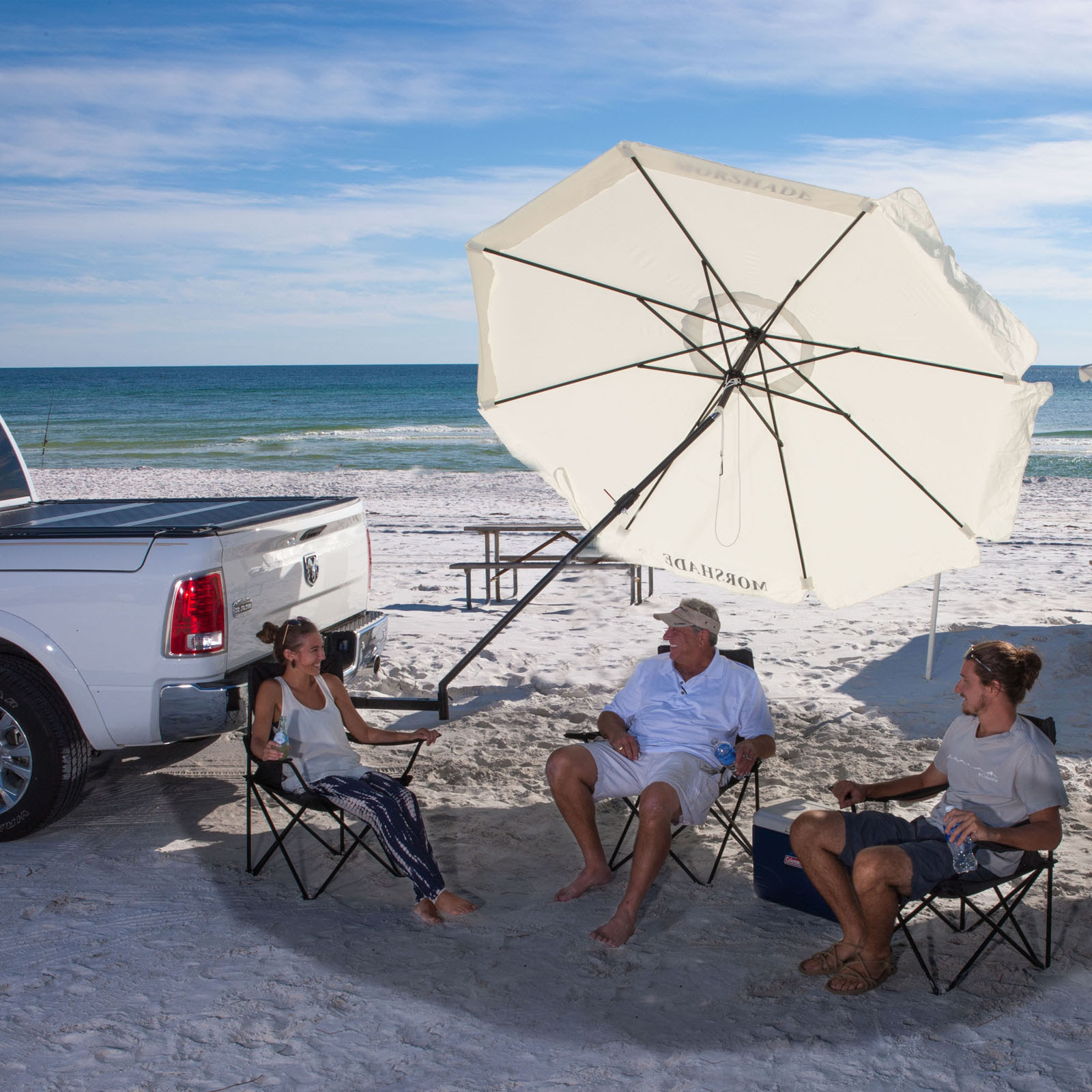 Morshade 9 ft. 360 Patio & Portable Shade Umbrella with ...