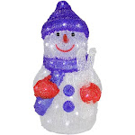 """Northlight 15"""" Lighted Commercial Grade Acrylic Snowman Christmas Display Decoration"""