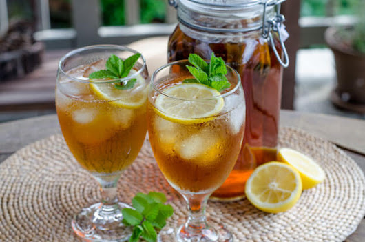 Iced Tea with Lemon and Mint - Cook Eat Paleo