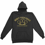 (Large, Black) - Bury Your Dead Men's Hooded Sweatshirt Large Black