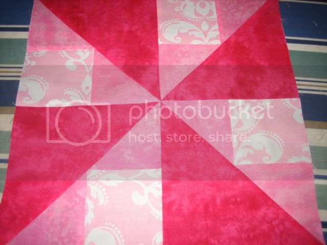 Pink Marbles - Spinner Block