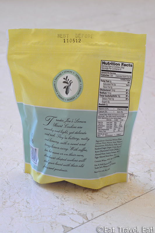 Trader Joe's Lemon Heart Cookies: Nutritional Infromation, Ingredients, and Description