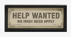 No Irish wanted apparently