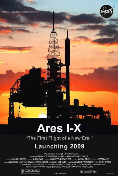ARES I-X 'promotional' poster.