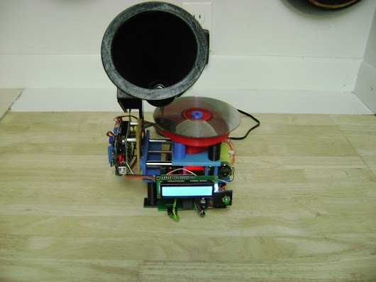 "Arduino Blog » MP3 player ""reads"" CDs like a vintage Victrola"