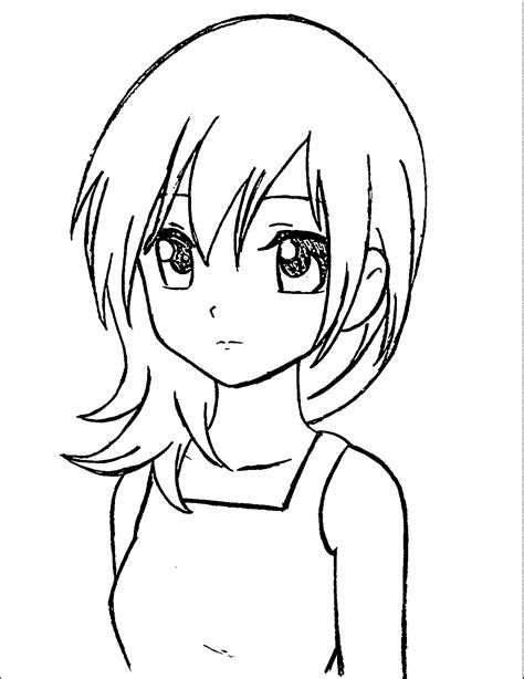 manga coloring pages wecoloringpage manga girl drawing