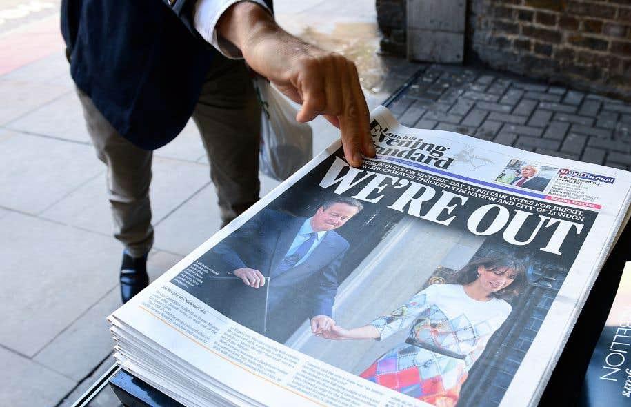 Les Britanniques ont choisi de quitter l'UE, un désaveu cinglant pour la construction européenne qui a plongé les marchés mondiaux dans la tourmente et coûté son poste au premier ministre conservateur David Cameron, alors qu'il avait fait campagne pour le maintien de son pays dans l'UE.