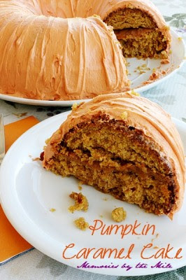 Moist-Delicious-Pumpkin-Caramel-Cake made by Memories by the mile