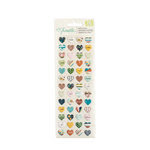 American Crafts - Go Now Go Collection - Puffy Stickers - Mini Hearts
