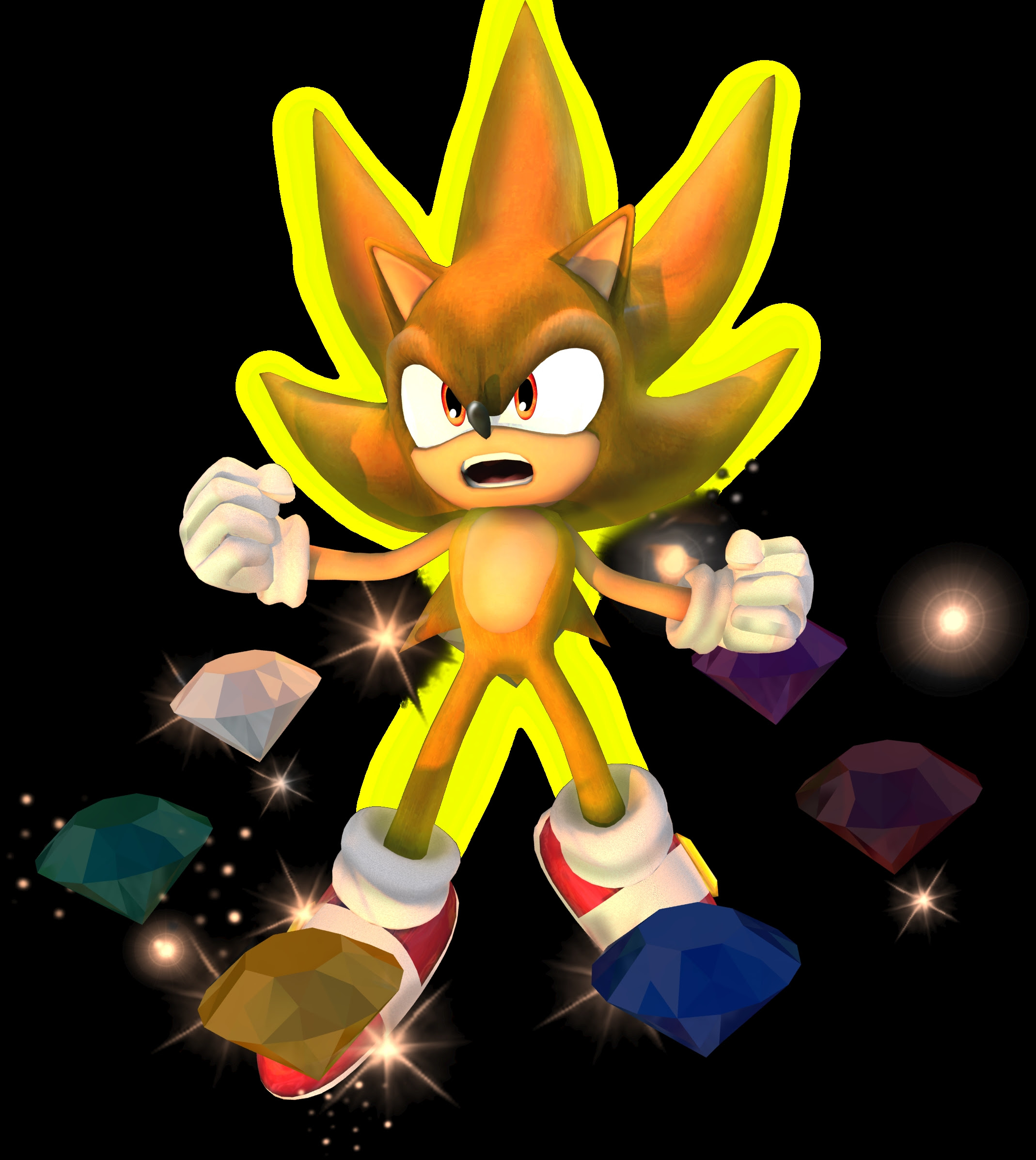 Super Smash Bros Super Smash Bros Brawl Super Sonic 2138x2394