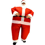Santa Claus Teen Inflatable Chub Suit Costume with Beard and Hat