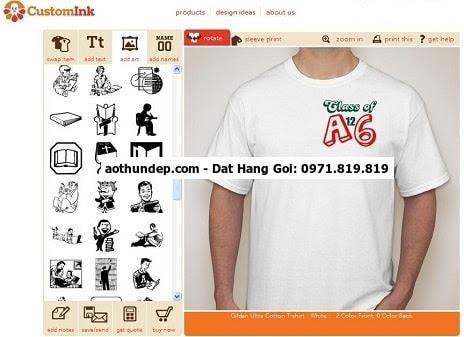 phần mềm thiết kế áo lớp online