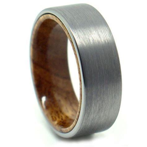 Tungsten with Koa Wood Accent Men?s Wedding Ring