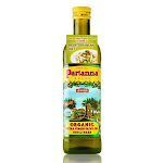 Organic Extra Virgin Olive Oil Unfiltered Bottle from Sicily (750 ml) by Partanna - 25.5 fl oz