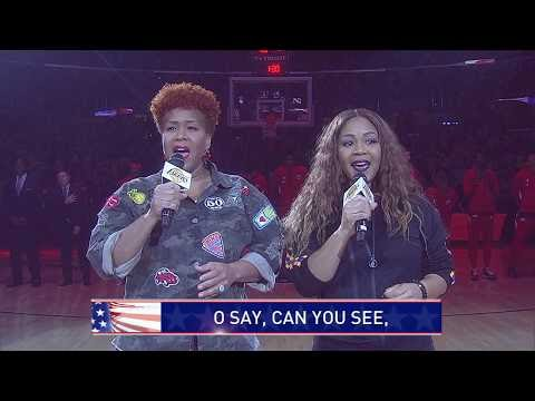 Mary Mary Sings The National Anthem At L.A. Lakers Game