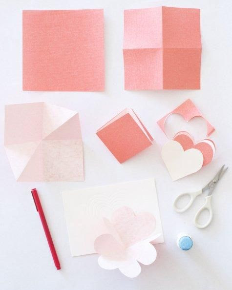 Heart-in-the-Fold Valentine's Day Card How-To