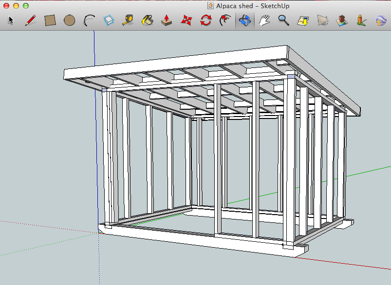 Tifany blog download plans for a 3 sided shed for 3 bay shed